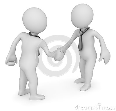 Handshake of two businessmans