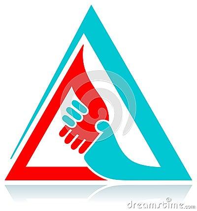 Handshaking in triangle
