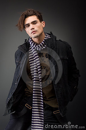 Free Handsom Young Male Model With Serious Attitude Stock Photos - 16040083