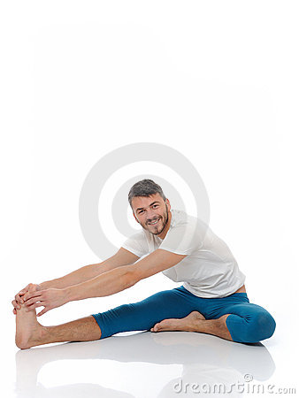 Free Handsome Active Man Doing Yoga Fitness Poses Stock Photos - 16650523