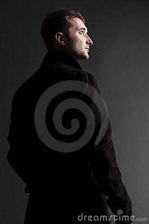 Free Handsome Adult Man Looking Up Stock Photos - 8849643