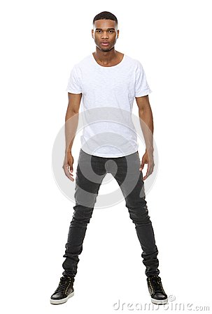 Free Handsome African American Male Fashion Model Royalty Free Stock Photos - 46340658