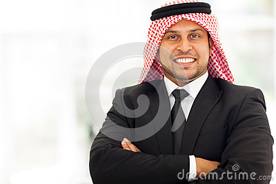 Handsome arab businessman