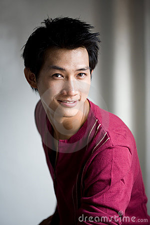 Handsome asian smile