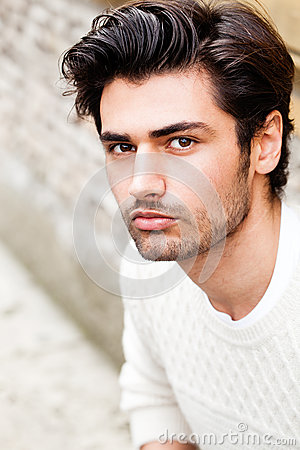 Free Handsome Beautiful Young Man Outdoor. Fashion Hairstyle Stock Photo - 68519140