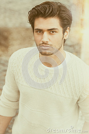 Free Handsome Beautiful Young Man Outdoor. Fashion Hairstyle Royalty Free Stock Image - 69287456