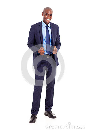 Handsome black businessman