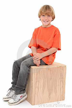Handsome Boy On Box Royalty Free Stock Photography - Image: 16672447