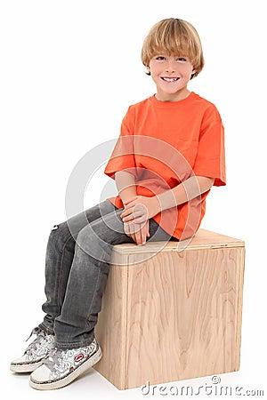 Handsome Boy on Box