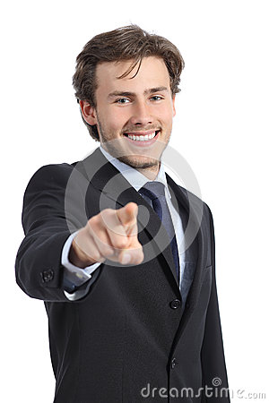 Free Handsome Business Man Pointing At You At Camera Stock Photography - 40783952