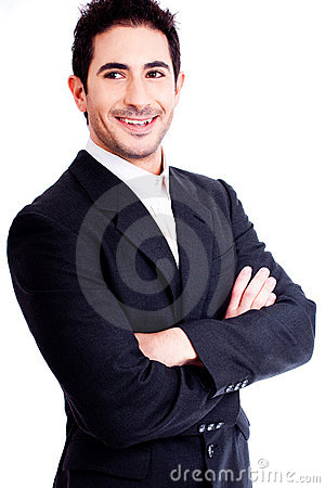 Handsome business man smiling