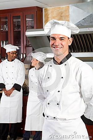 Handsome chef