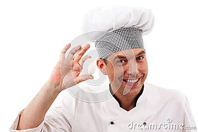 Handsome cook