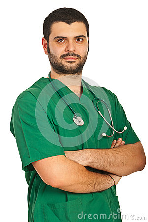 Handsome doctor man