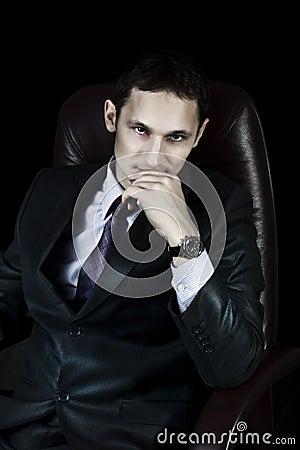Handsome elegant businessman