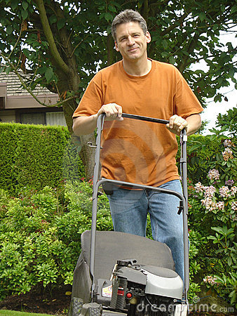 Handsome gardener