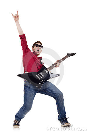 Free Handsome Guitarist Stock Photos - 14448423