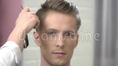 Prime Handsome Guy Getting A Haircut Stock Video Video Of Blade Schematic Wiring Diagrams Amerangerunnerswayorg