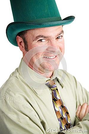 Handsome Irish Man on St Patricks Day