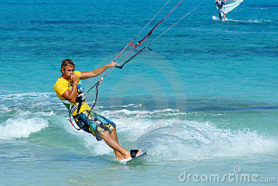 Handsome kitesurfer Editorial Stock Photo