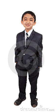 Free Handsome Little Boy In A Business Suit Stock Photos - 22881643