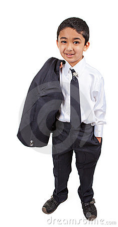 Free Handsome Little Boy In A Business Suit Stock Photo - 22881650