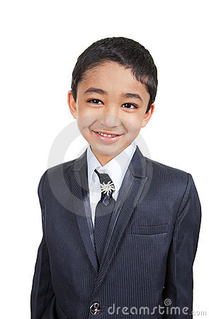 Free Handsome Little Boy In A Business Suit Royalty Free Stock Photography - 22881677