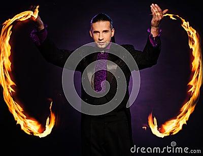 Handsome magician