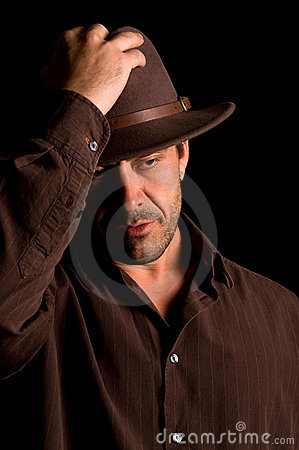Handsome male with hat