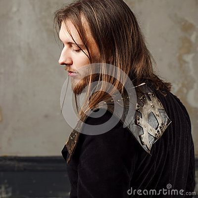 Free Handsome Male Steam Punk. Retro Man In Uniform, Portrait Over Grunge Background. Royalty Free Stock Photos - 86245038