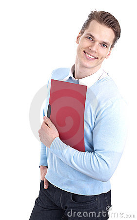 Handsome man with folder