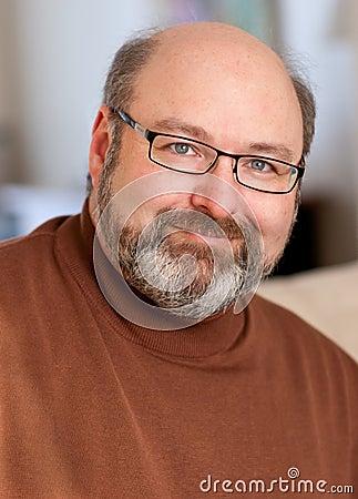 Handsome man in forties portrait