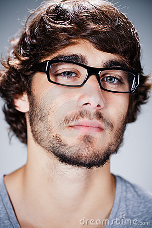 Handsome man with glasses