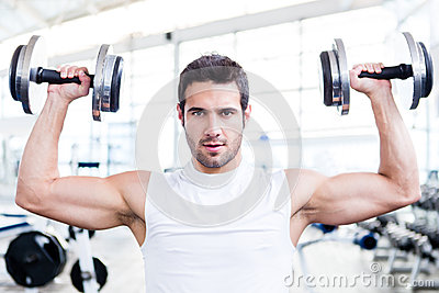 Handsome man at the gym