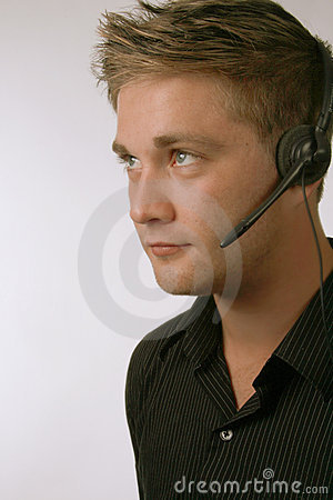 Handsome Man with Headset