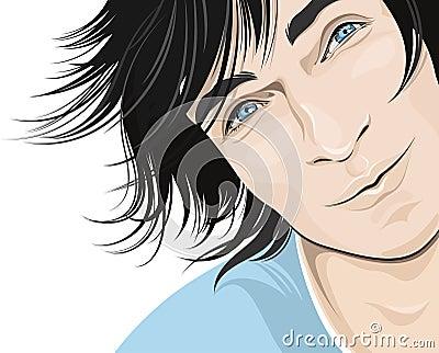 Handsome man illustration