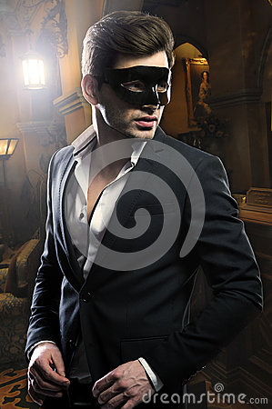 Free Handsome Man In Mask Royalty Free Stock Photo - 36403925