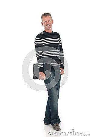 Handsome man laptop