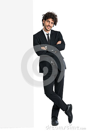 Free Handsome Man Leaning On Billboard Stock Images - 40628514