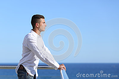 Handsome man looking at the horizon