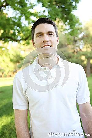 Handsome Man in Park