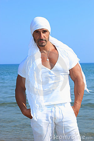 Handsome Man By The Sea Royalty Free Stock Images - Image: 21659739
