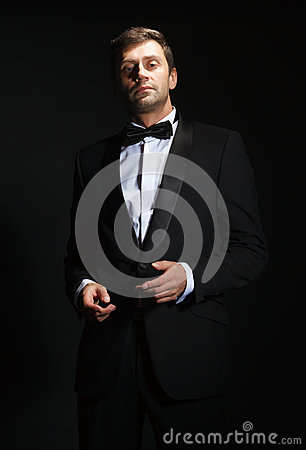 Handsome Man In A Tuxedo Royalty Free Stock Photography ...