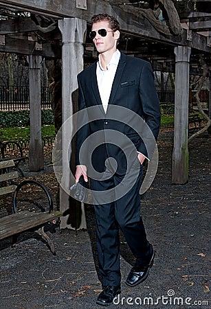 Handsome man walking