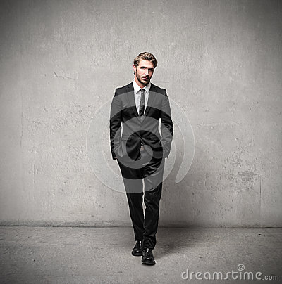 Free Handsome Man Wearing A Suit Stock Image - 46383471
