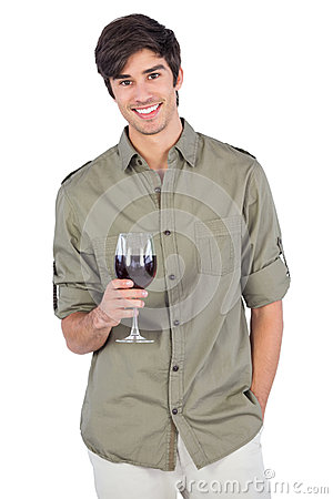 Free Handsome Man With Wine Glass Stock Photography - 32233562