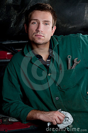 Handsome mechanic