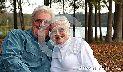 Handsome older couple