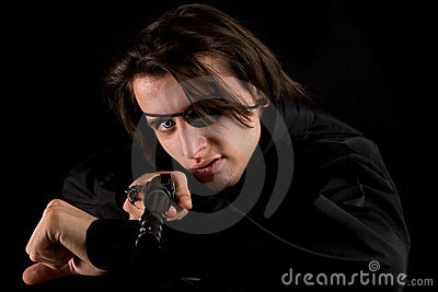 Handsome Pirate With Gun Royalty Free Stock Images - Image