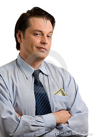 Handsome self-satisfied businessman